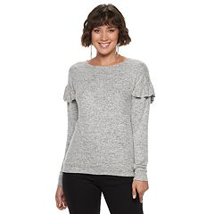 Women's Juicy Couture Embellished Ruffle Sleeve Top