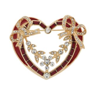 Napier Holiday Heart Pin
