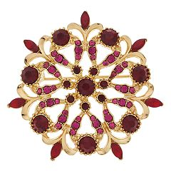 Napier Stone Crystal Pin