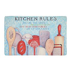 Mohawk® Home Rules with Utensils Cushioned Printed Kitchen Mat - 18'' x 30''