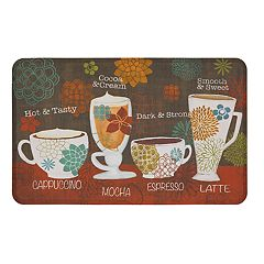 Mohawk® Home Tasty Coffee Words Cushioned Printed Kitchen Mat - 18'' x 30''