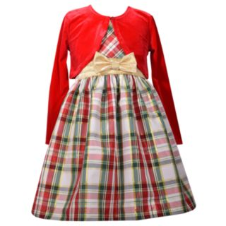 Girls 7-16 & Plus Size Bonnie Jean Plaid Sleeveless Dress & Cardigan Set