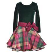 Girls 7-16 & Plus Size Bonnie Jean Long Sleeve Drop Waist Dress