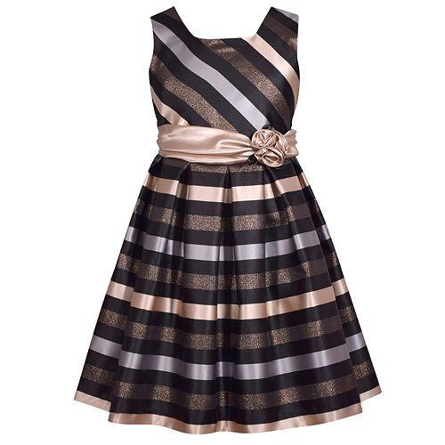 Girls 7-16 & Plus Size Bonnie Jean Striped Sleeveless Dress