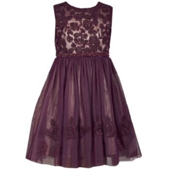 Girls 7-16 & Plus Size Bonnie Jean Embroidered Bodice Sleeveless Dress
