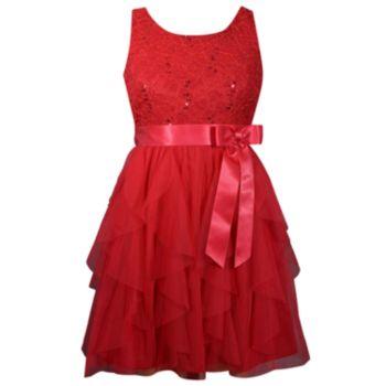 Girls 7-16 & Plus Size Bonnie Jean Lace Cascade Dress