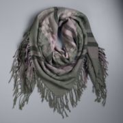 Women's Simply Vera Vera Wang Fringed Basketweave Square Scarf