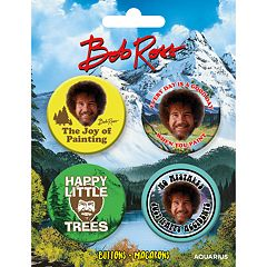 Aquarius 4-pack Bob Ross Buttons