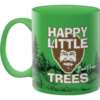 "Aquarius Bob Ross ""Happy Little Trees"" Mug"