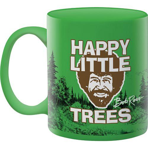 "Aquarius Bob Ross ""Happy Little Trees"" Mug"