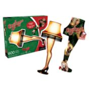 """Aquarius """"A Christmas Story"""" Leg Lamp 600-Piece Two-Sided Puzzle"""