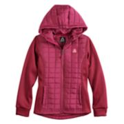 Girls 7-16 Reebok Spyder Fleece & Quilted Midweight Bubble Jacket