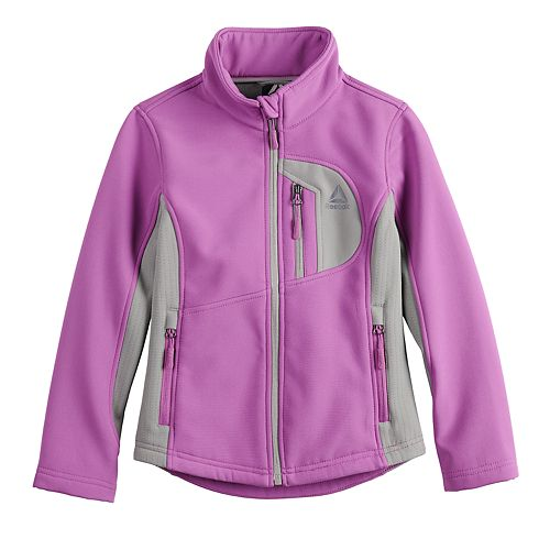 Girls 7-16 Reebok Softshell Fleece-Lined Midweight Jacket