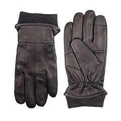 Men's Dockers® InteliTouch Lined Leather Touchscreen Gloves