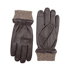 Men's Dockers® InteliTouch Fleece-Lined Leather Touchscreen Gloves
