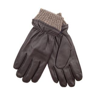 Men's Dockers® InteliTouch Fleece-Lined Leather Touchscreen Gloves