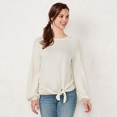 Women's LC Lauren Conrad Tie-Front Sweatshirt