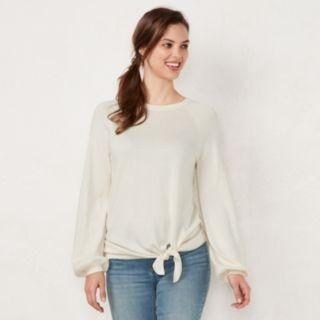 Women's LC Lauren Conrad Tie-Front Sweater