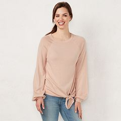 Women's LC Lauren Conrad Tie-Front Sweater