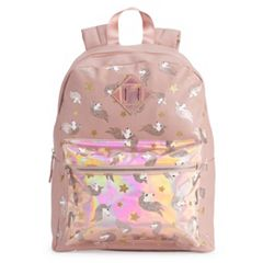 OMG Accessories Glitter Unicorn Hologram Backpack