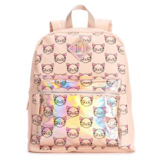 OMG Accessories Glitter Cat Hologram Backpack