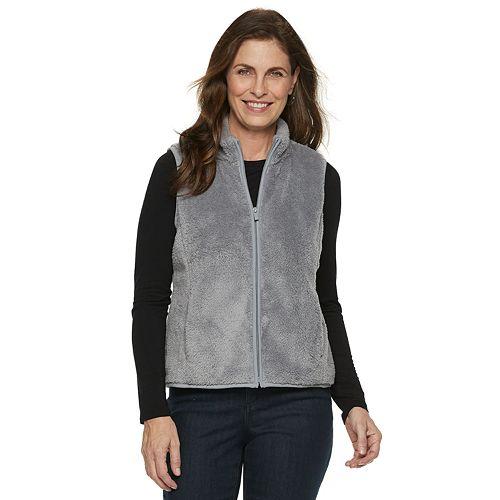 Petite Croft & Barrow® Minky Fleece Vest