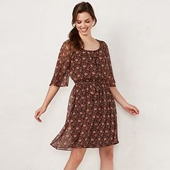 Women's LC Lauren Conrad Print Pleated Dress