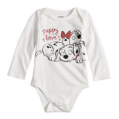 Disney's 101 Dalmatians Baby Girl  'Puppy Love' Bodysuit by Jumping Beans®