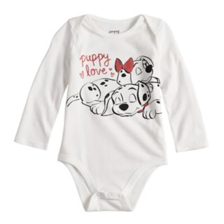 "Disney's 101 Dalmatians Baby Girl  ""Puppy Love"" Bodysuit by Jumping Beans®"