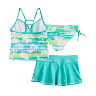 Girls 7-16 ZeroXposur Magic Mirage Tankini Top & Bottoms & Skirt Swimsuit Set