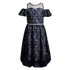 Girls 7-16 Emily West Illusion Neckline Cold-Shoulder Lace Dress