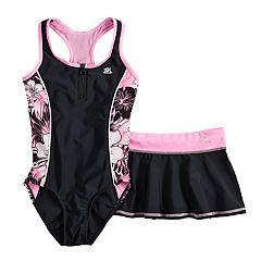 d4a83a10c63c5 Girls 7-16 & Plus Size Samba Sway One-Piece Swimsuit & Skirt Set