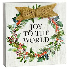 Belle Maison 'Joy To The World ' Box Sign Art
