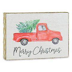 Belle Maison 'Merry Christmas' Box Sign Art