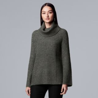 Women's Simply Vera Vera Wang Ribbed Cowlneck Tunic Sweater