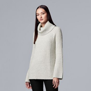 221b79b15d1 Women s Simply Vera Vera Wang Ribbed Cowlneck Tunic Sweater