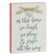 """Belle Maison """"We Laugh Play And Jingle"""" Box Sign Art"""