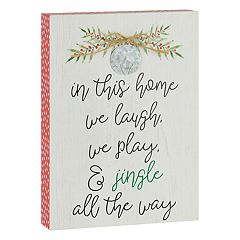 Belle Maison 'We Laugh Play And Jingle' Box Sign Art