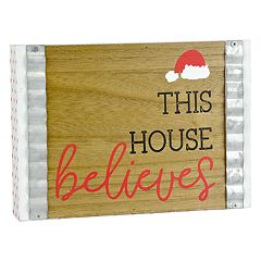 Belle Maison 'This House Believes' Box Sign Art