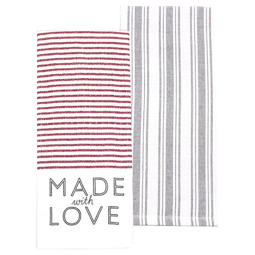 """Food Network™ """"Made with Love"""" Kitchen Towel 2-pk."""