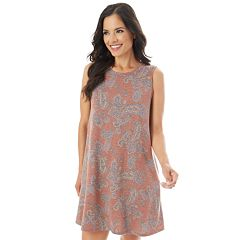 Women's Apt. 9® Printed French Terry Swing Dress