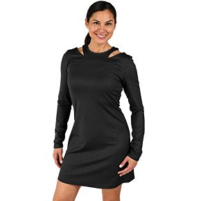 Women's Soybu Flitter Cutout-Shoulder Dress