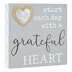 Belle Maison 'Grateful Heart' Box Sign Art