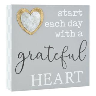 """Belle Maison """"Grateful Heart"""" Box Sign Art"""