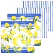 Food Network? Lemons Dischcloth 4-pack
