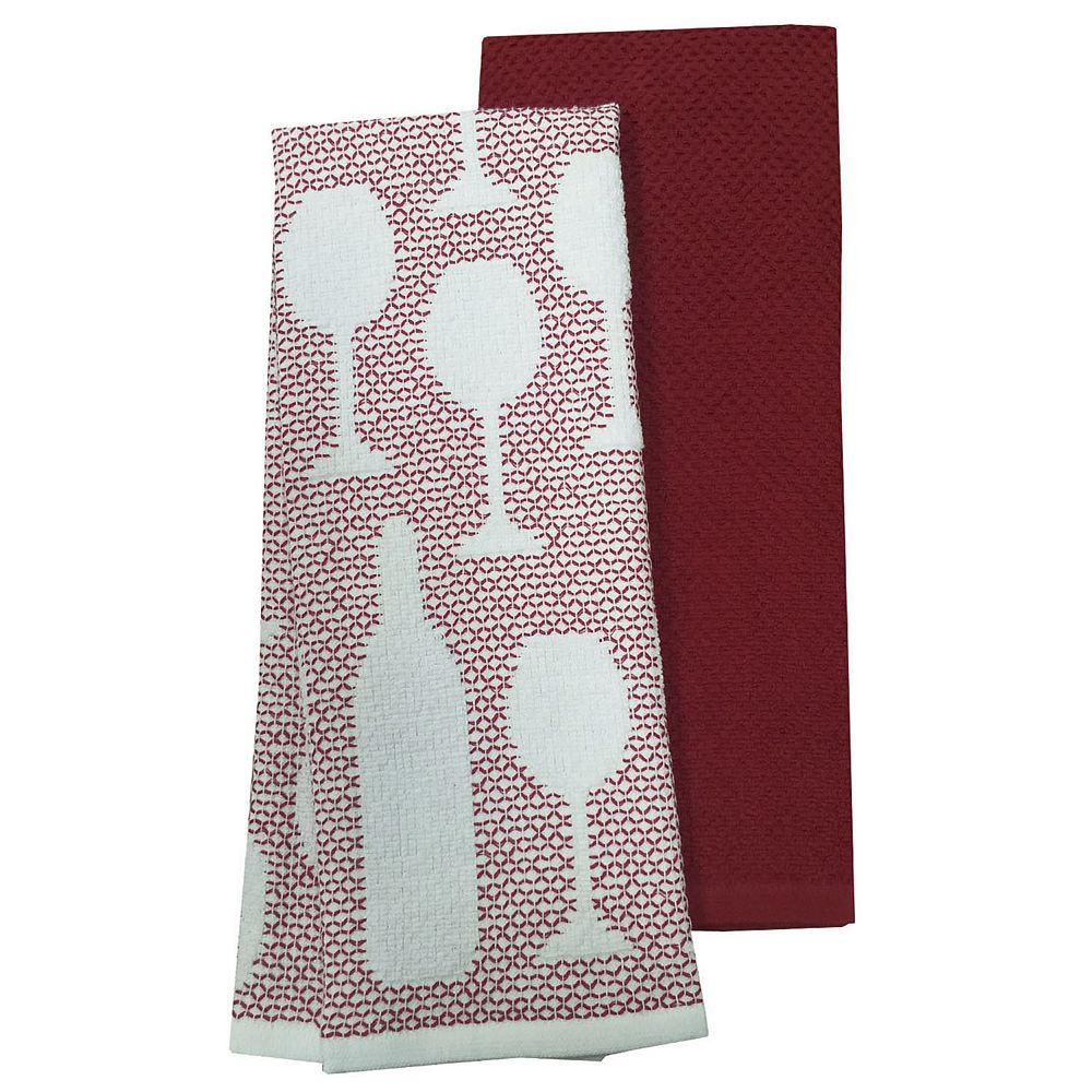 Food Network™ Wine Kitchen Towel 2-pack