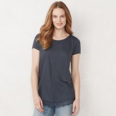 Women's LC Lauren Conrad Lace-Trim Tee