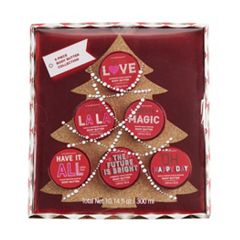 Simple Pleasures 5-Piece Scented Body Butter Christmas Tree Set