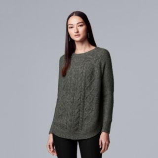 Women's Simply Vera Vera Wang Cable-Knit Cowlneck Sweater