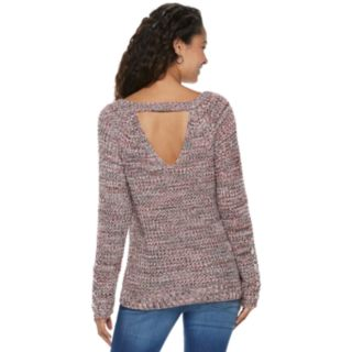 Juniors' American Rag Lace-Up Open-Back Sweater